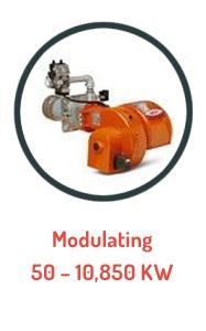 Baltur Gas Burner Range - Modulating 60 - 10850 Kw