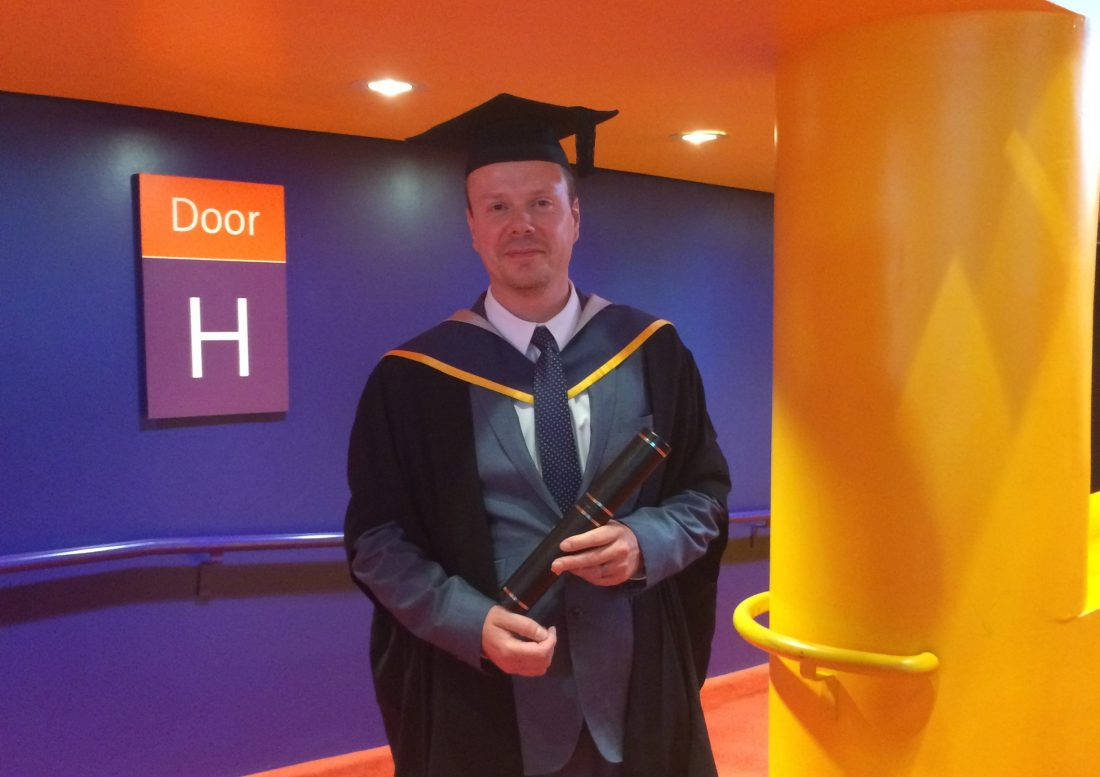 EOGB Technical Manager, Martin Cooke, Receives His Masters Degree