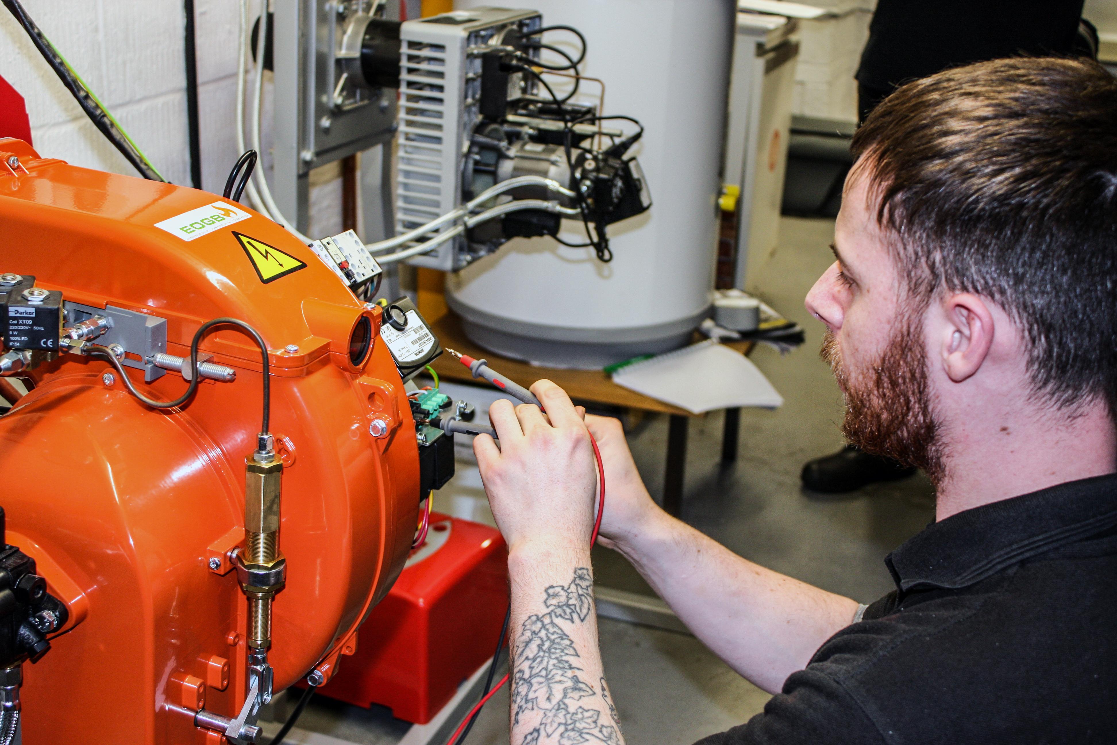 OFTEC 201 training assessment burners