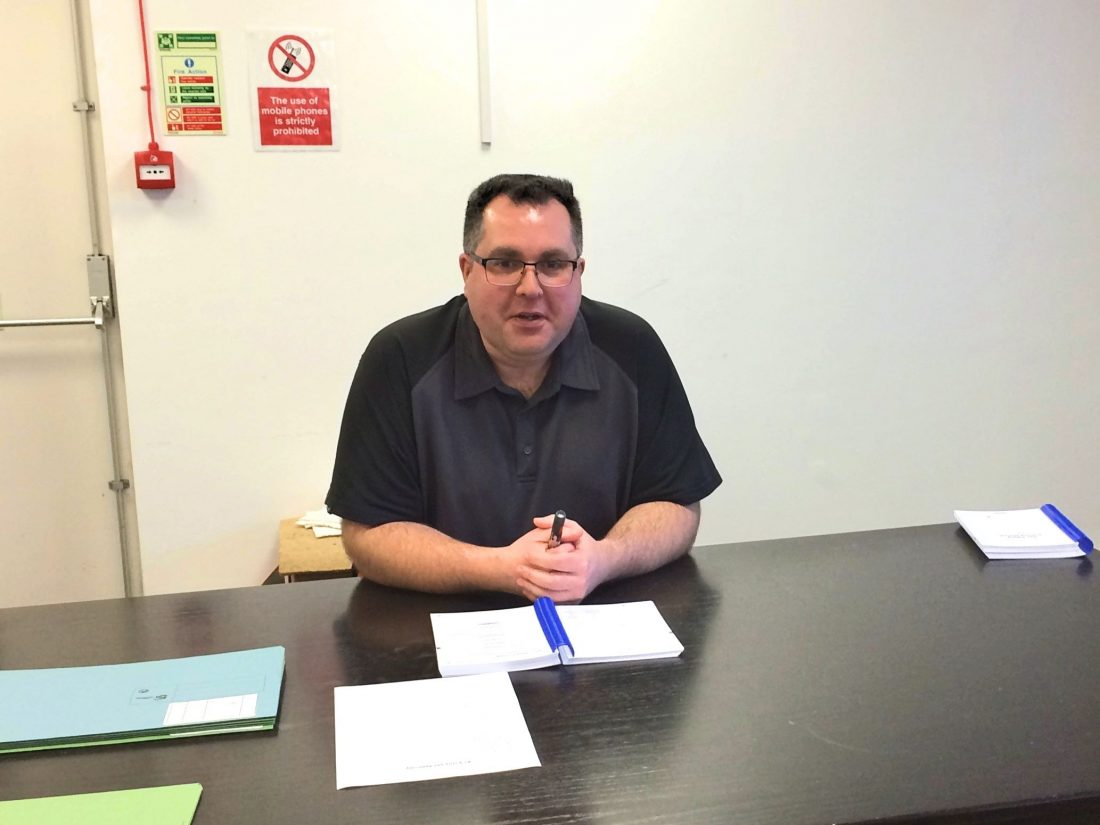 Gas technical trainer Ian Fleming